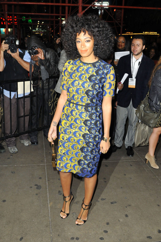 Singer Solange Knowles makes her way into the'Glamour Women of the Year Awards' at Carnegie Hall in New York City