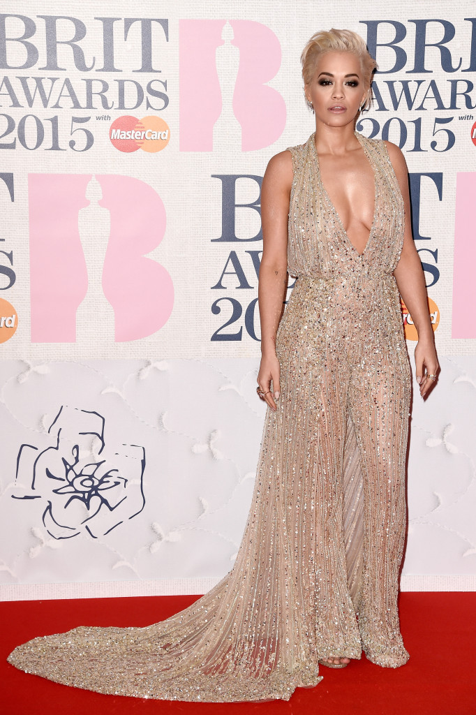 LONDON, ENGLAND - FEBRUARY 25: Singer Rita Ora attends the BRIT Awards 2015 at The O2 Arena on February 25, 2015 in London, England. (Photo by Ian Gavan/Getty Images)