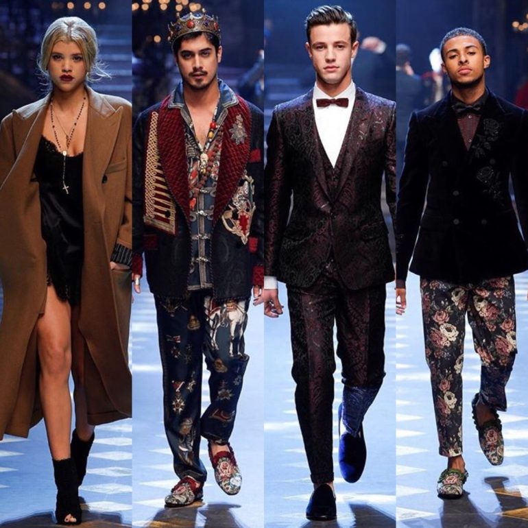 6214caac Dolce and Gabbana Enlists the Help of Celebs during Milan Fashion Week