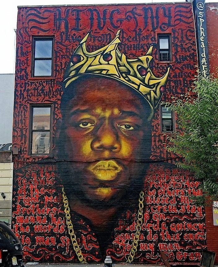 Biggie mural in brooklyn saved by supporters and residents for 2pac mural new york