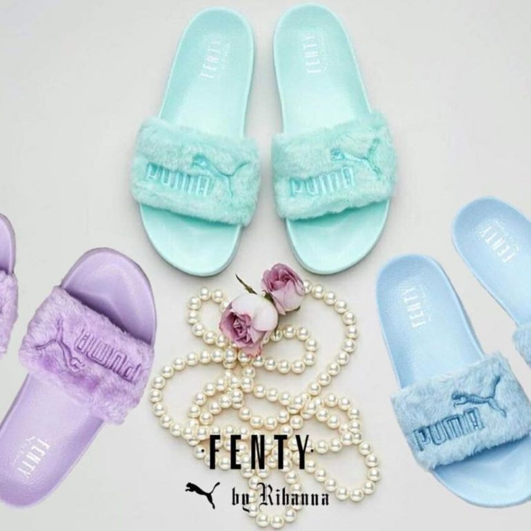 newest 2df06 90e07 Fenty x Puma Just Dropped New Colored Fur Slides - MEFeater