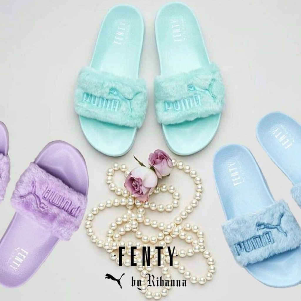 fenty x puma just dropped new colored fur slides mefeater. Black Bedroom Furniture Sets. Home Design Ideas