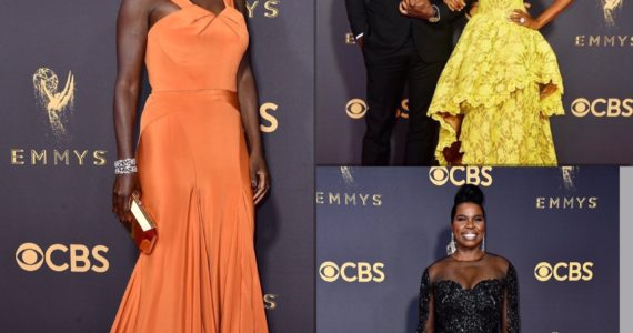 Emmys Red Carpet 2017 Awards Viola Davis Sterling Brown Leslie Jones