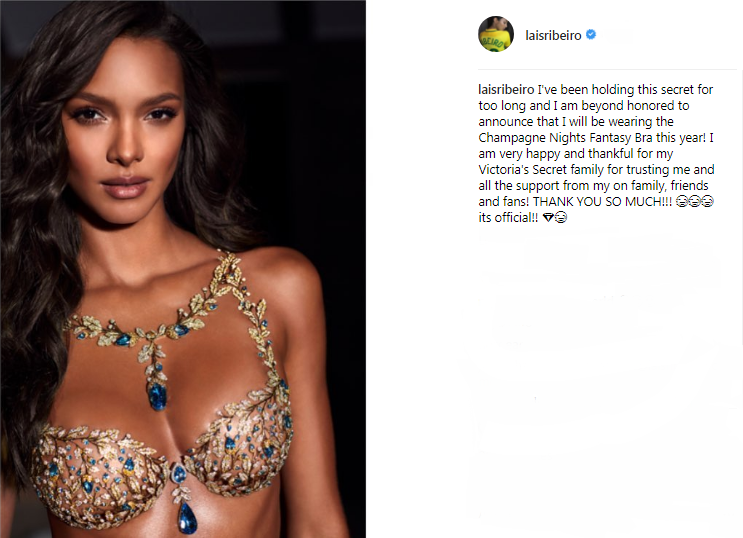 98f059ac83 Lais Ribeiro Will Wear Victoria s Secret Fantasy Bra for 2017 - MEFeater