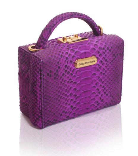 Doris Dorothea Pandora Box in Purple Unbleach $700