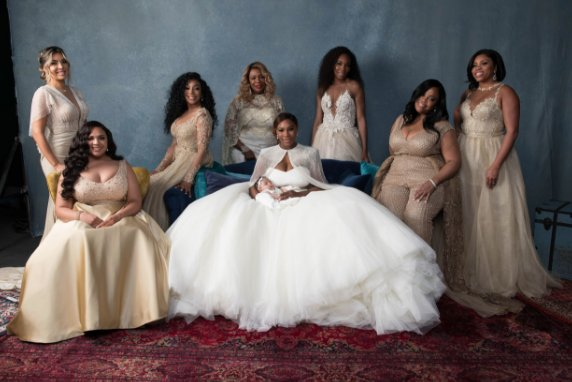 Serena Williams' wedding. Photo by Bob Metelus and Erica Rodriguez