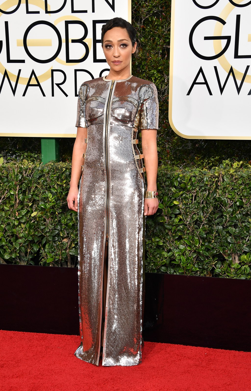 Ruth Negga at the Golden Globes. Picture by Steve Granitz/Getty Images