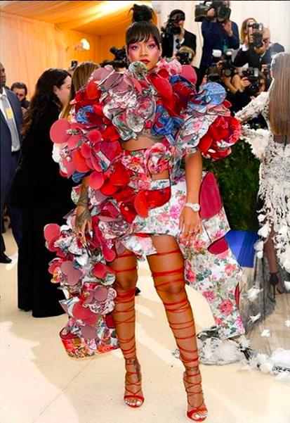 Rihanna at the Met Gala. Instagram @badgalriri