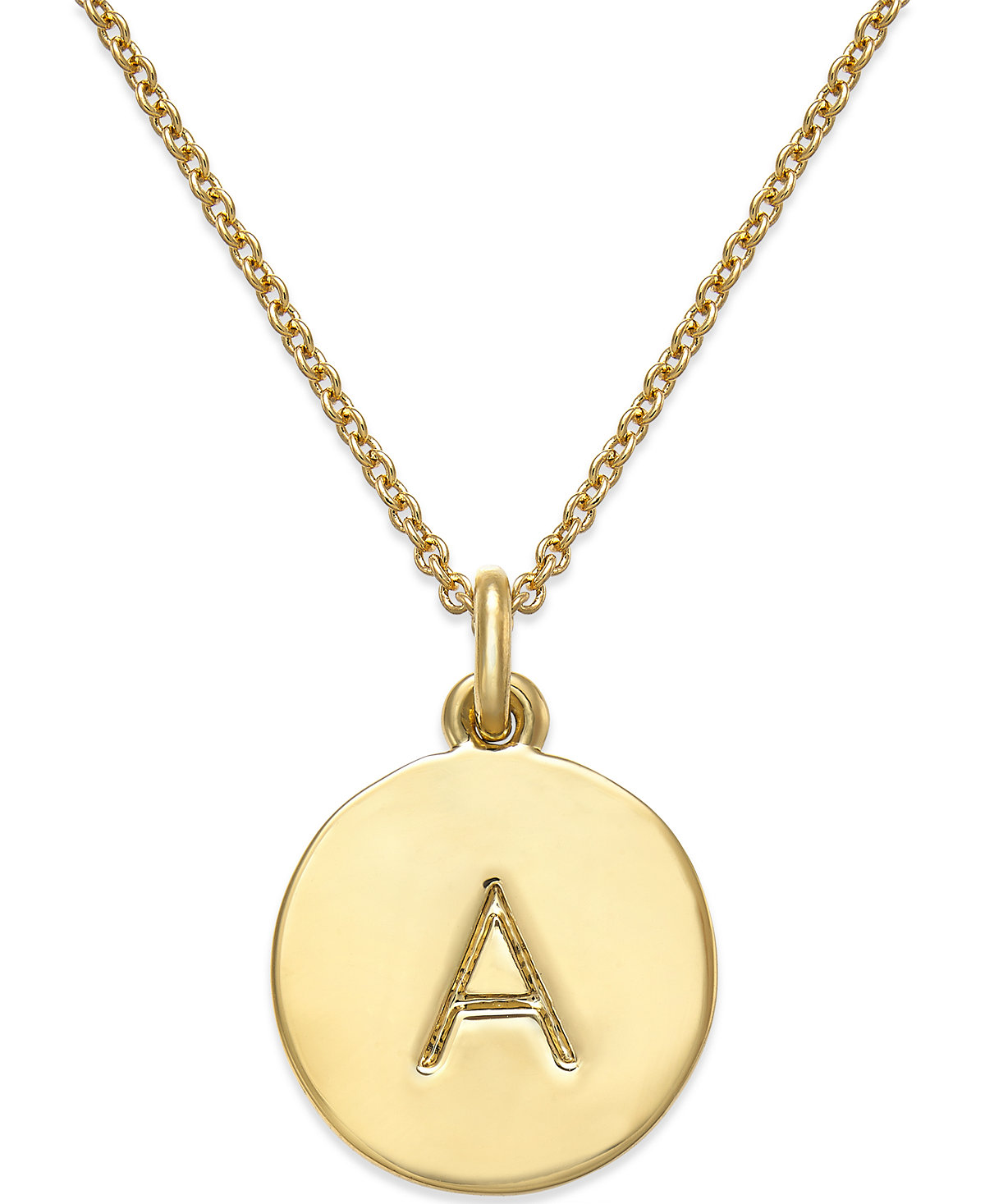 kate spade new york 12k GoldPlated Initials Pendant Necklace $58