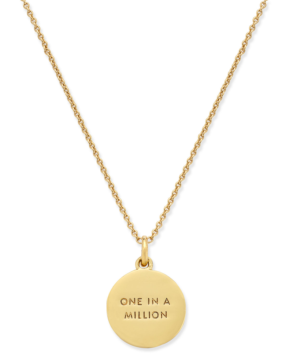 kate spade new york 12k GoldPlated Initials Pendant Necklace back $58