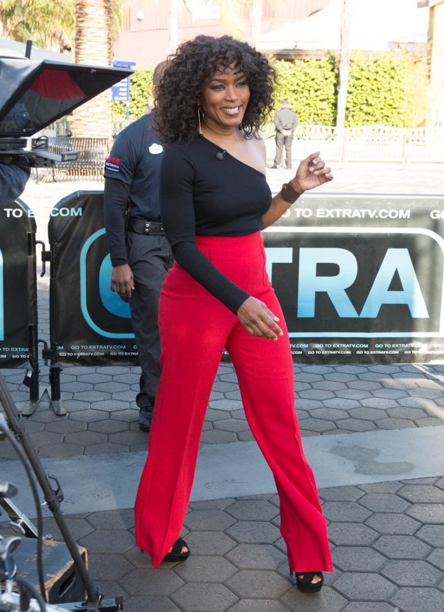 Angela Bassett on press circuit for her new show.
