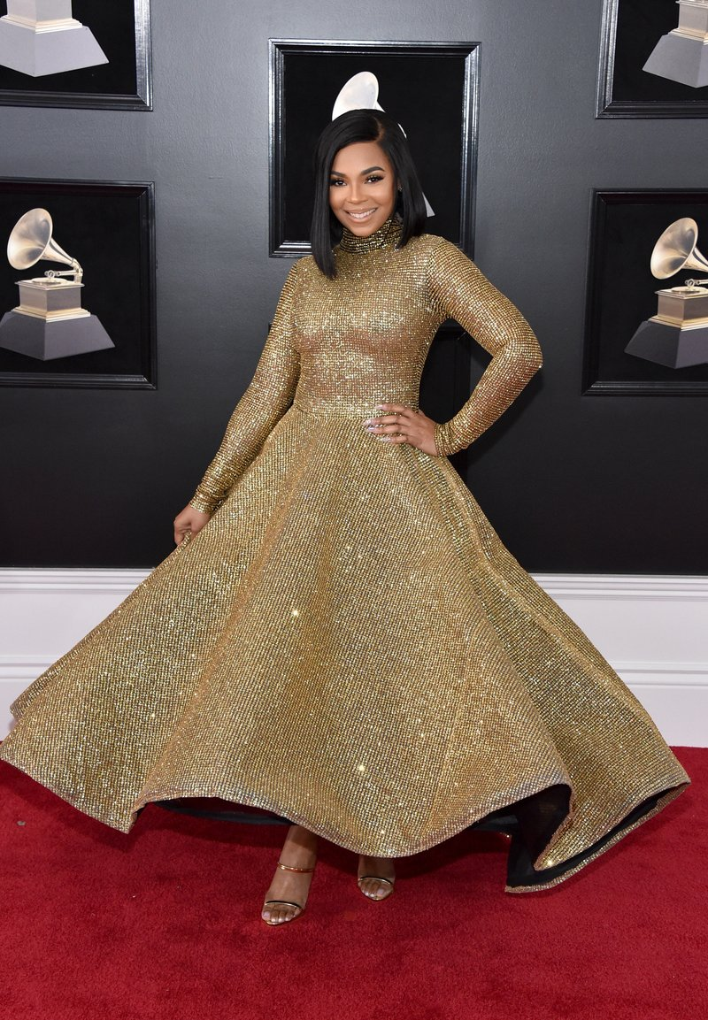 Ashanti in Yas Couture by Elie Madi. Photo by John Shearer/Getty Images
