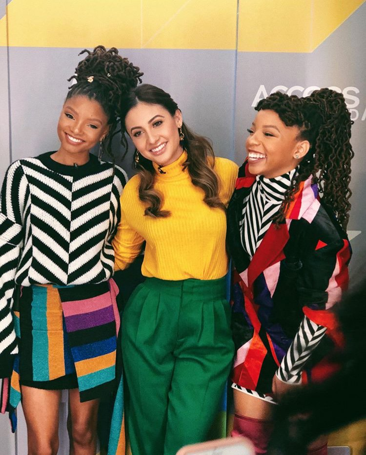 Chloe X Halle and Francia Raisa (pictured centre) via Instagram @franciaraisa