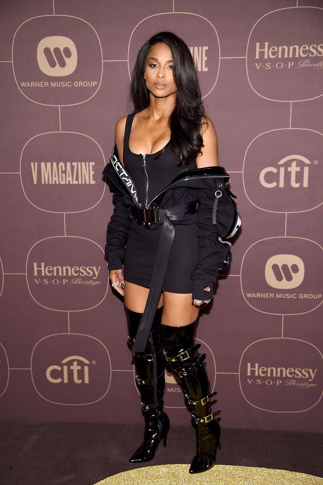 Ciara at the Warner Music Group Pre-Grammy Party in NYC