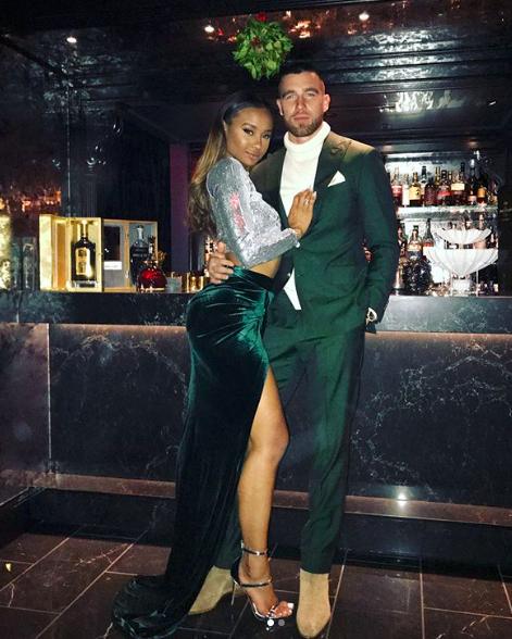 Kayla Nicole and Travis Kielce via Instagram @iamkaylanicole
