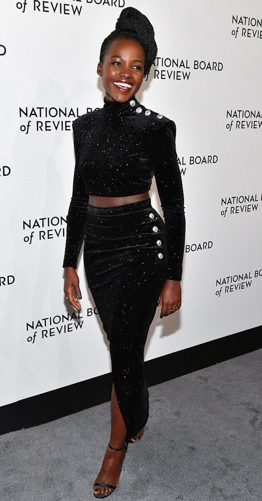 Lupita Nyong'o at The National Board Of Review Annual Awards Gala via Instagram @lupitanyongo