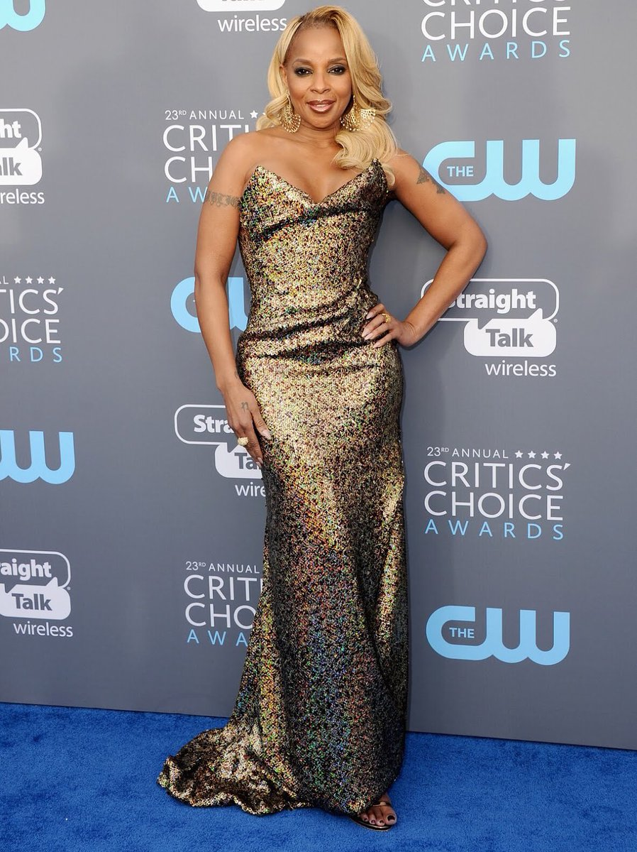 Mary J. Blige at the 2018 Critics Choice Awards
