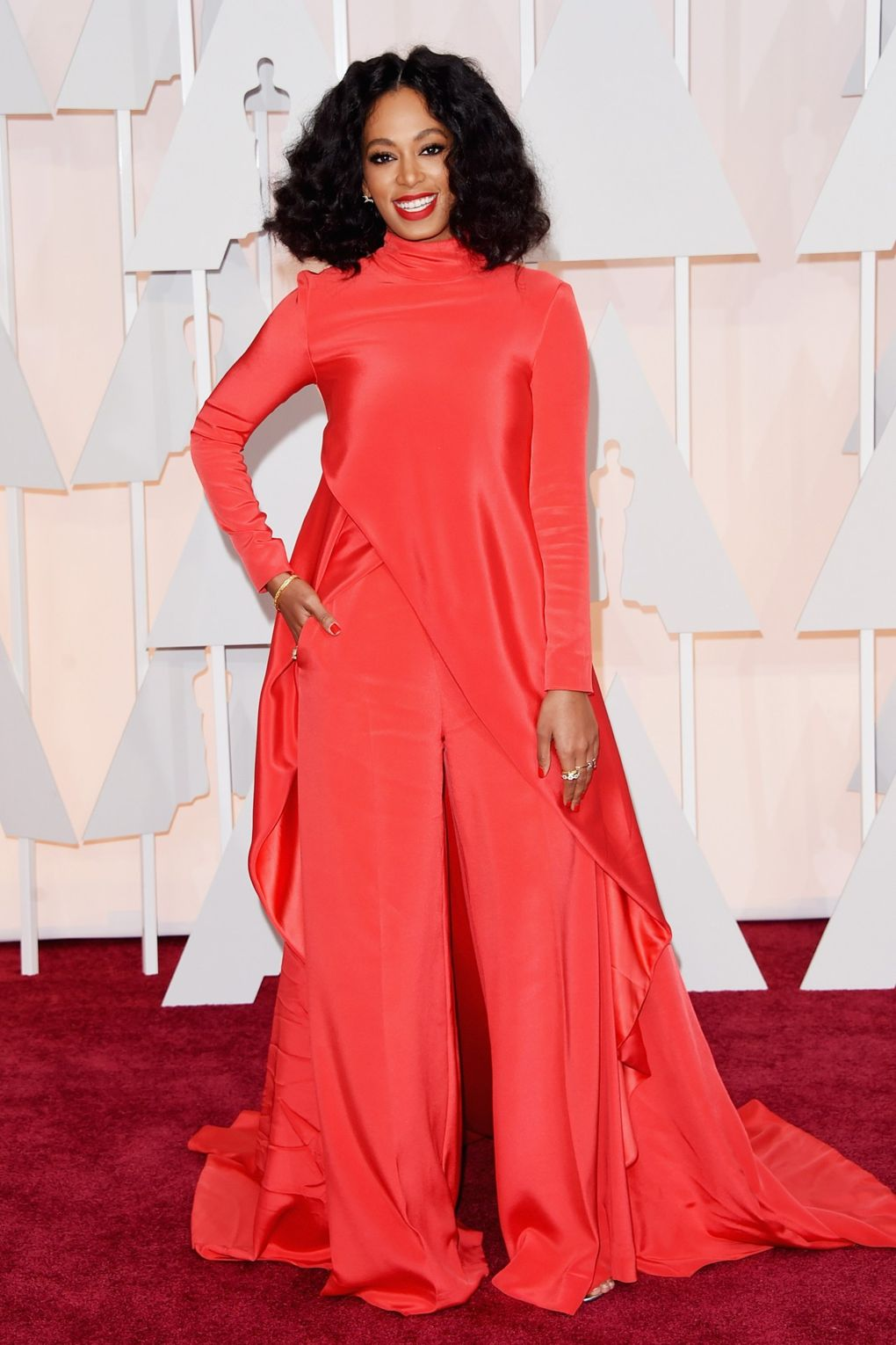 Solange Knowles wearing Christian Siriano in 2015. Photo via Getty Images