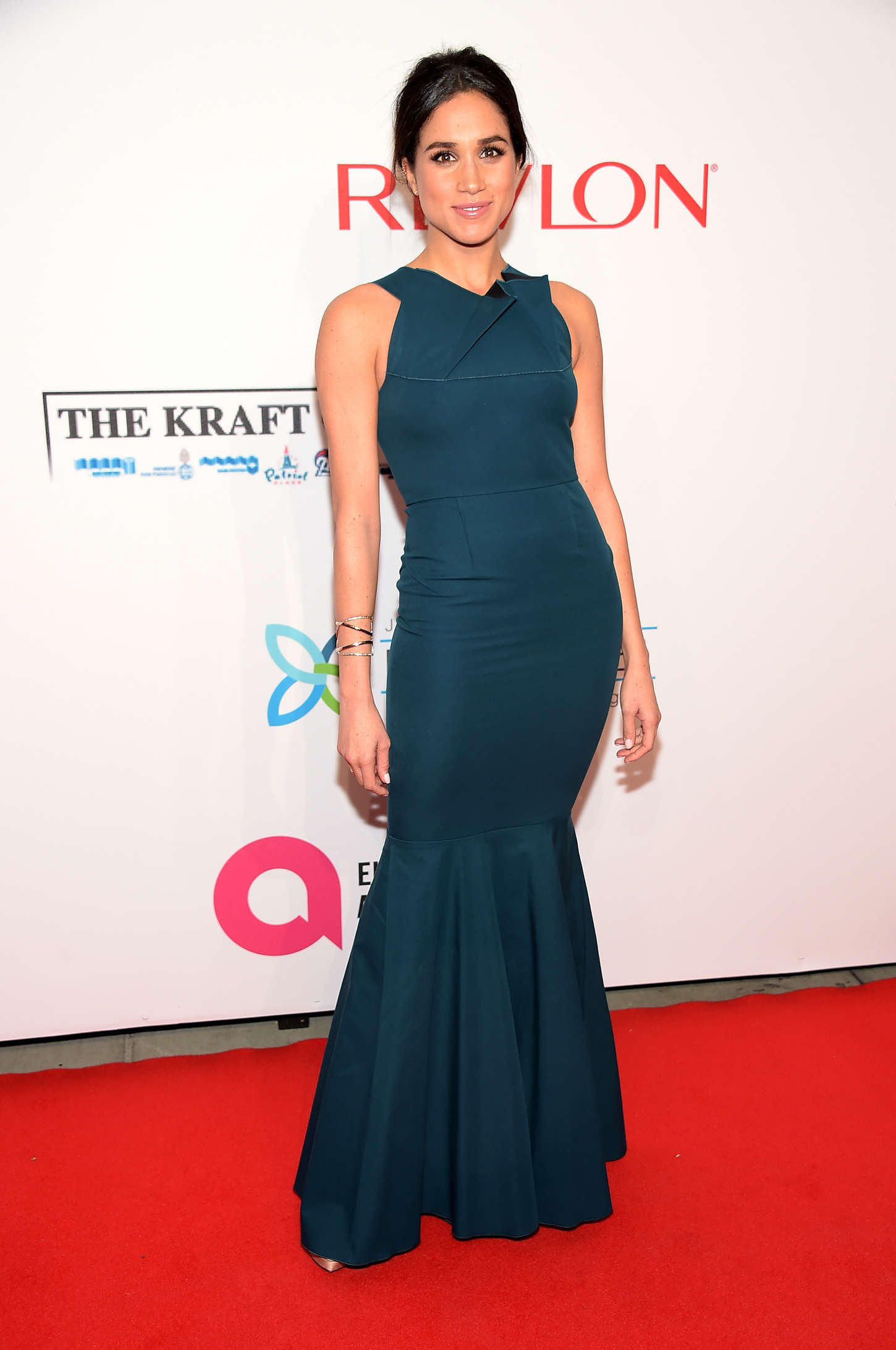 Wearing a Roland Mouret gown at the Elton John AIDS Foundation in 2014 via Instagram