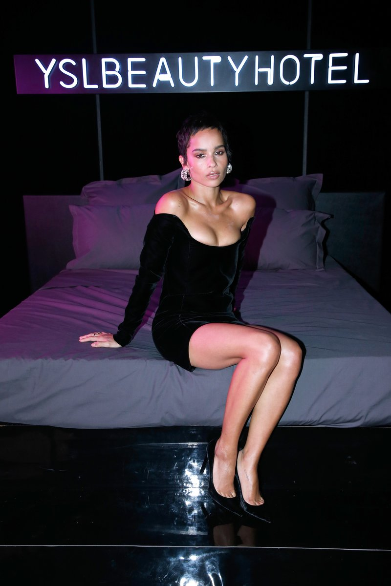 Zoe Kravitz at the YSL Beauty Hotel in Paris, France. Photo by Bertrand Rindoff Petroff/Getty Images