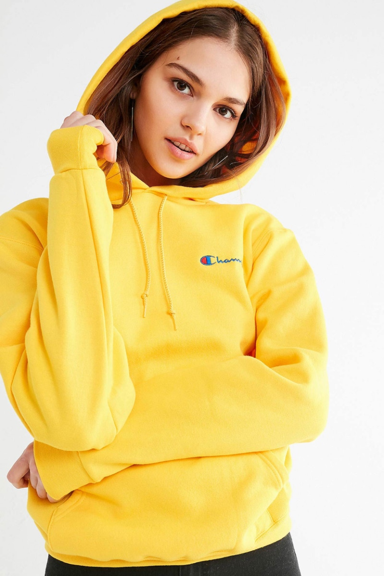 Champion x Urban Outfitters Mini Logo Hoodies Arrive in Millennial Pink u0026 Ultra Violet - MEFeater