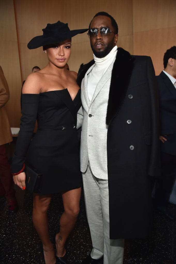 Diddy and Cassie at the Roc Nation Pre-Grammy Brunch