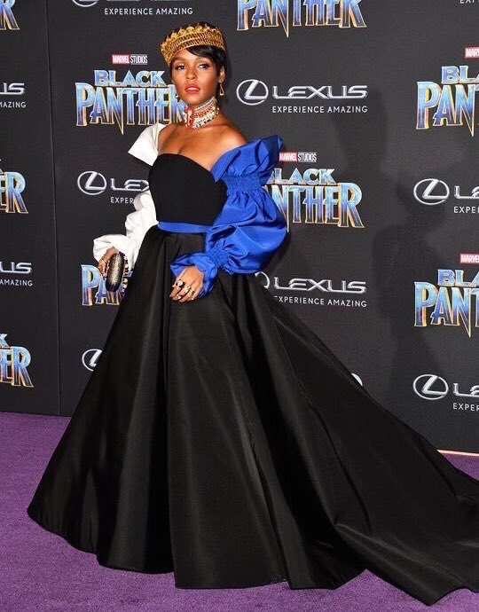 Janelle Monae at the Black Panther Premiere