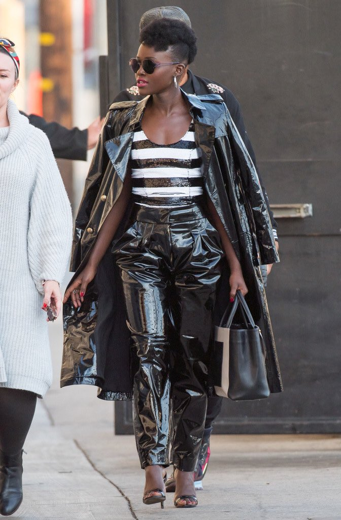 Lupita Nyong'o wearing Balmain #BlackPanther
