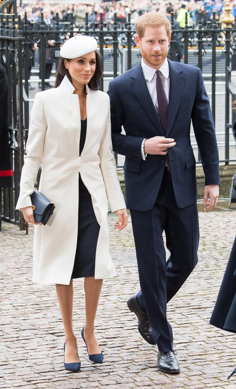 Meghan Markle and Prince Harry on Commonwealth Day. Picture by Samir Hussein/Getty Images