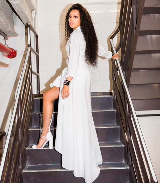 Monica Brown photographed by Cyndi Brown via Instagram