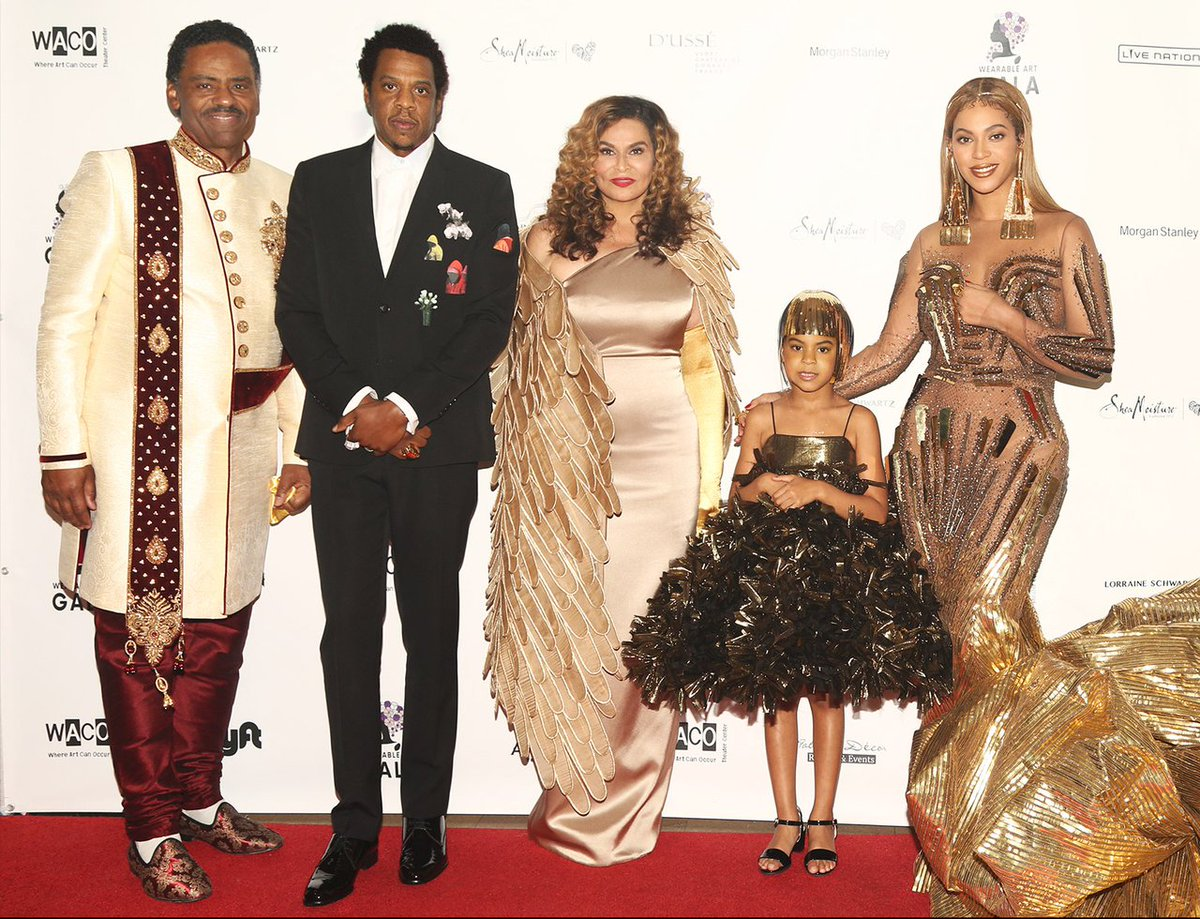 Richard Lawson, JAY-Z, Ms. Tina, Blue-Ivy and Beyoncé