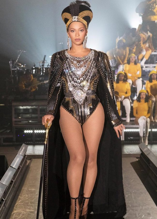 Beyoncé ensemble created by Balmain