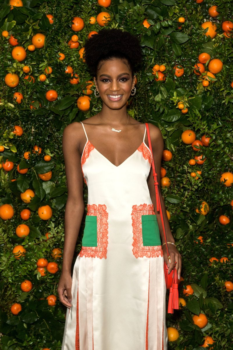 Ebonee Davis attends Tory Burch's fragrance launch in NYC. Photo via Andrew Morales/REX/Shutterstock