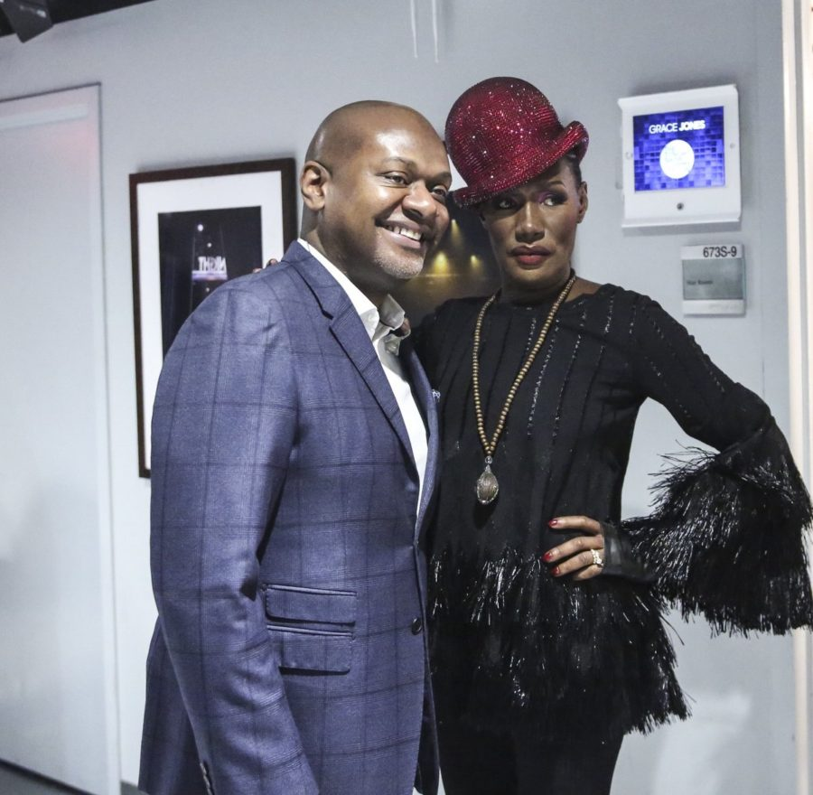 James Poyser and Grace Jones at The Tonight Show with Jimmy Fallon via Twitter @FallonTonight