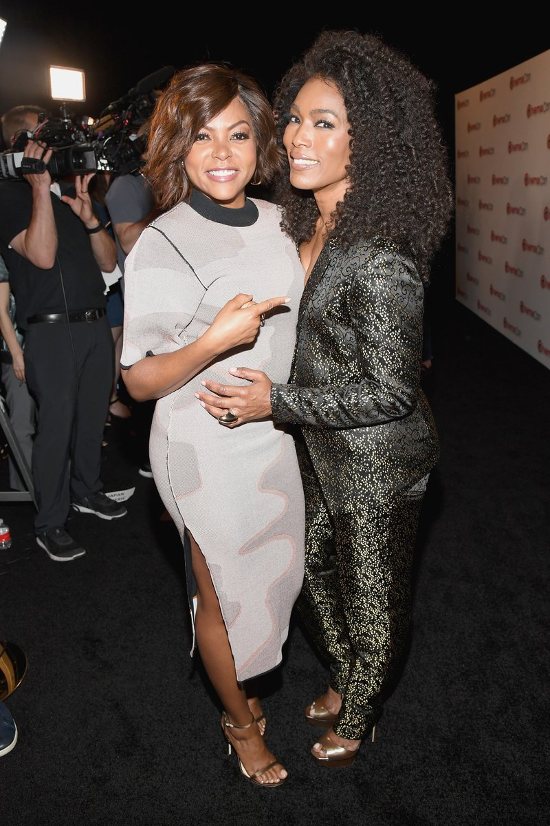 Taraji P. Henson and Angela Bassett during CinemaCon in Las Vegas. Photo by Ethan Miller/Getty Images