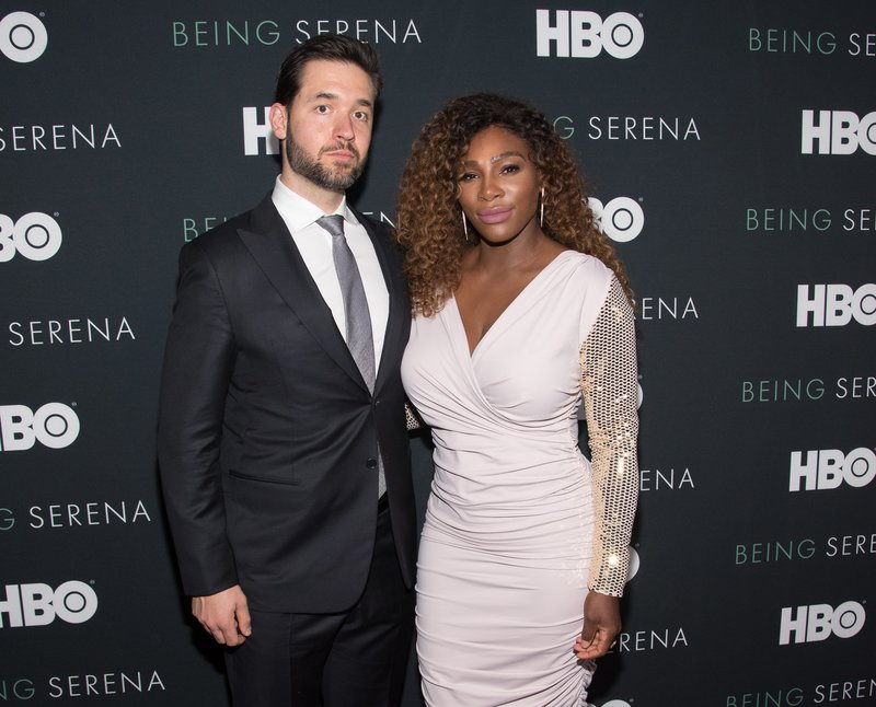 "Alexis Ohanian and Serena Williams attended the ""Being Serena"" Premiere in NYC. Photo by Mike Pont/WireImage"