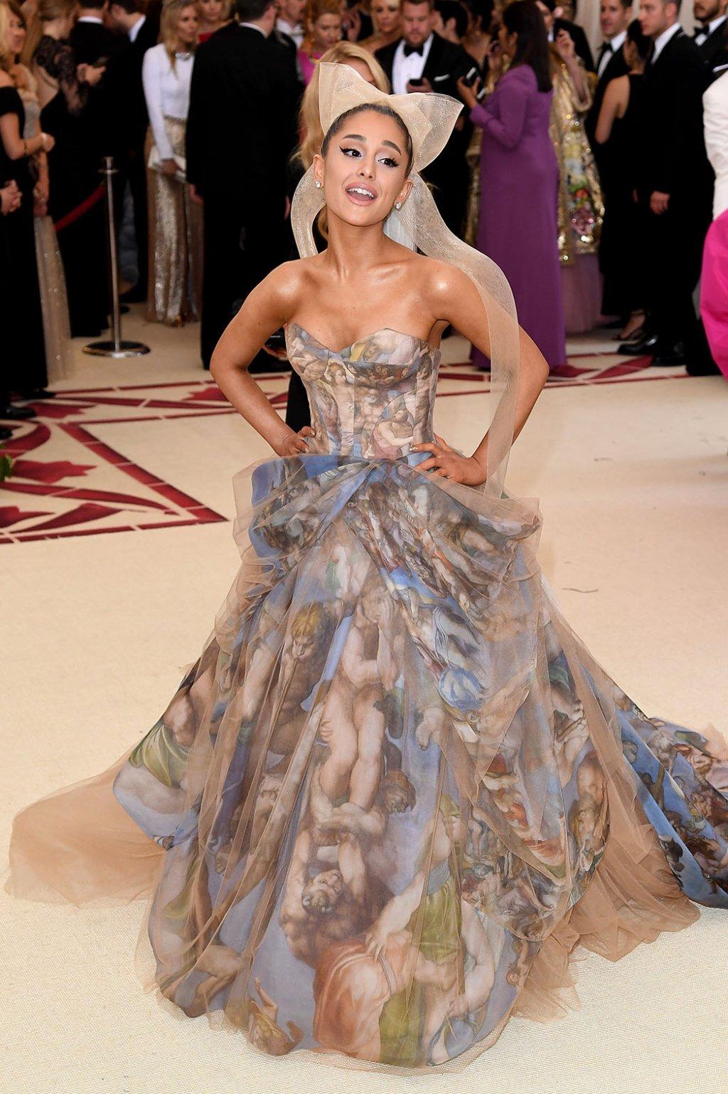 Ariana Grande wearing custom Vera Wang. Picture by Karwai Tang/Getty Images