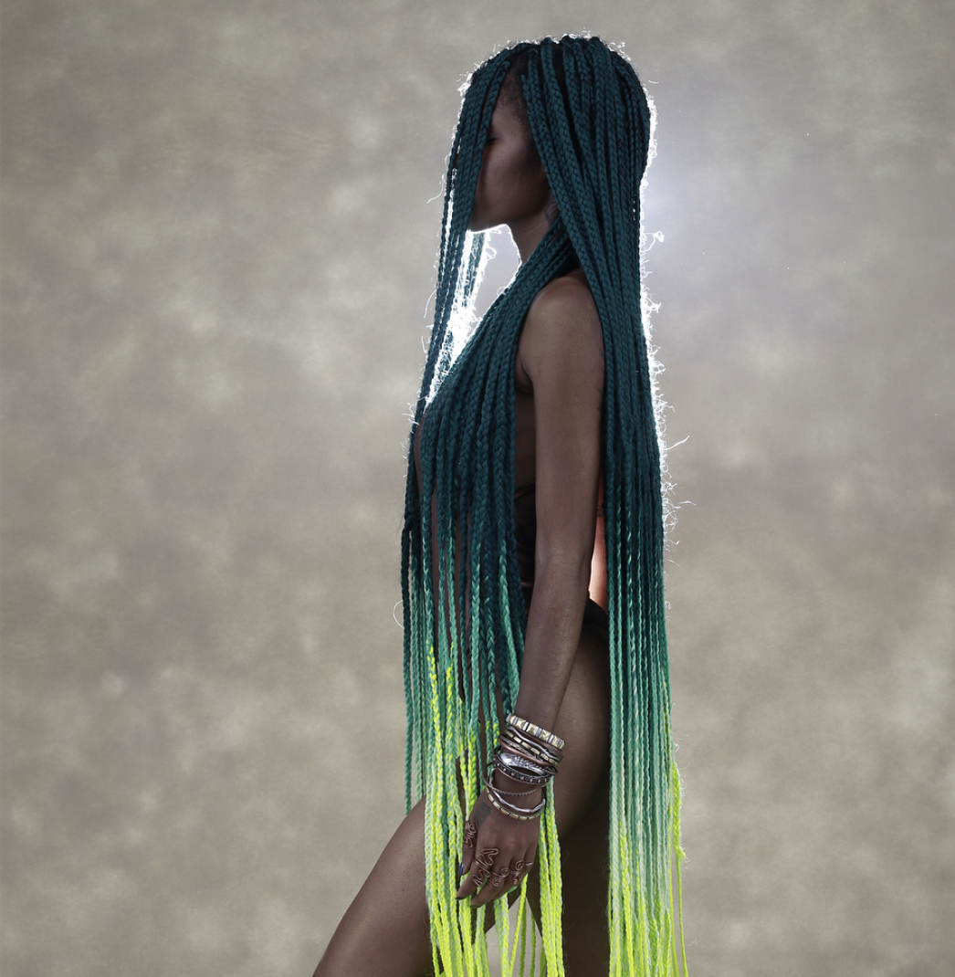 summer braids - ombre