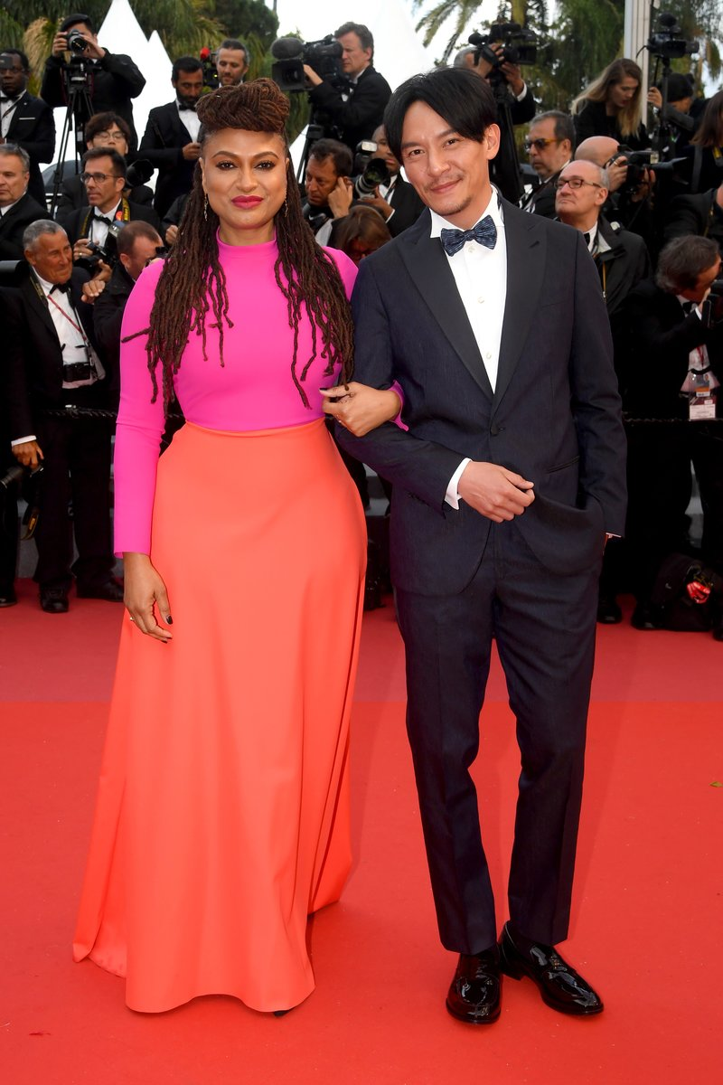 "Ava DuVernay and Chang Chen attend a screening of ""BlacKkKlansman"" during the 71st annual Cannes Film Festival. Photo by Stephane Cardinale - Corbis via Getty Images"