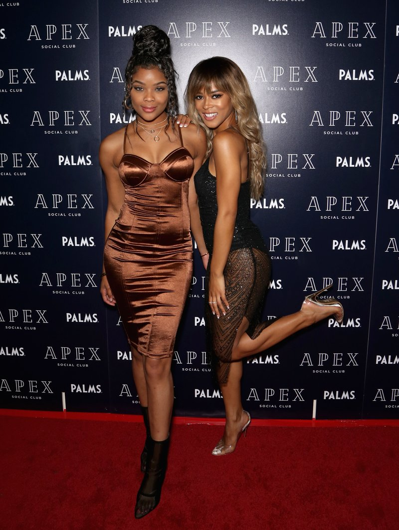 Actress Ajiona Alexus and Serayah attend the opening of Apex Social Club in Las Vegas. Photo by Gabe Ginsberg/Getty Images
