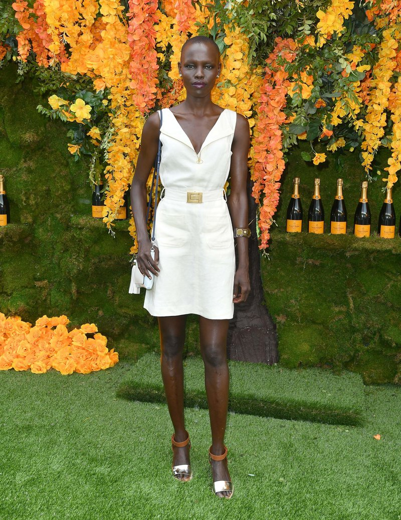 Grace Bol attended the 11th Annual Veuve Clicquot Polo Classic at Liberty State Park in Jersey City. Photo credit: Angela Weiss/AFP/Getty Images