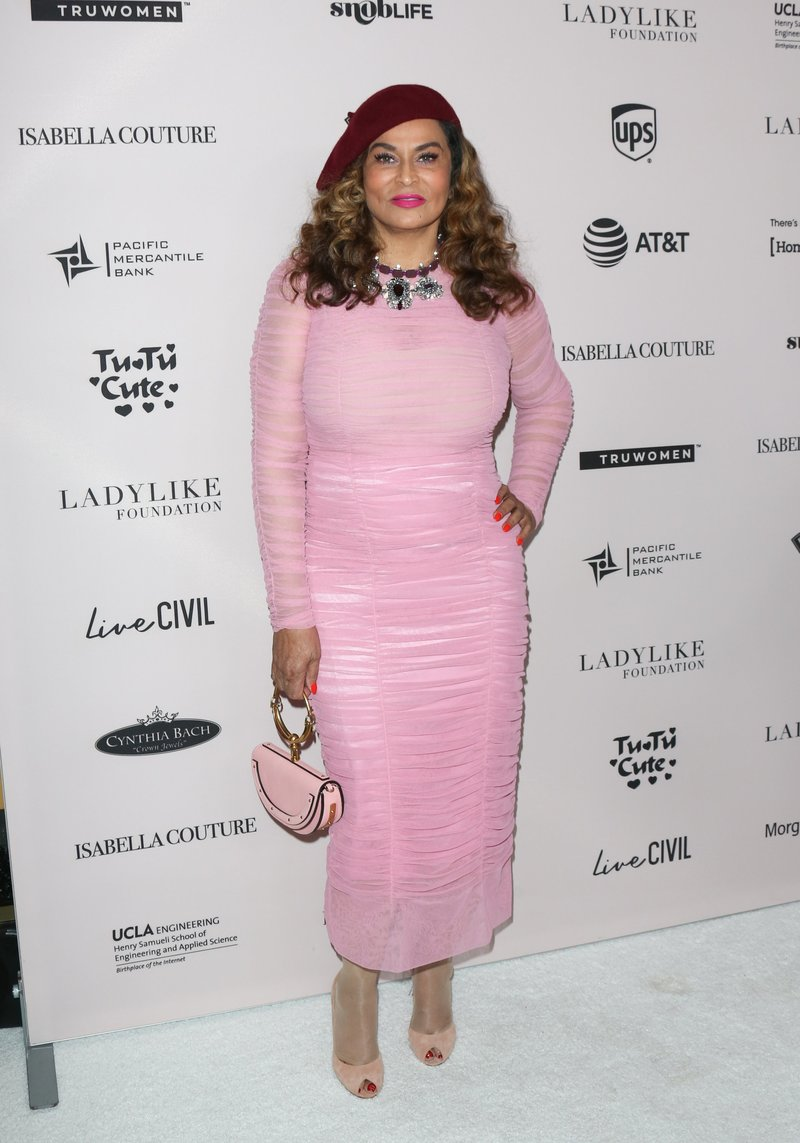 Tina Knowles-Lawson attended the Ladylike Foundation's 2018 Annual Women Of Excellence Scholarship Luncheon in Beverly Hills. Photo by Paul Archuleta/Getty Images
